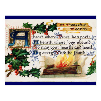 A Peaceful Hearth Postcard