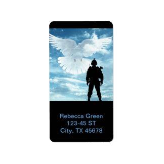 A Peaceful Soldier on Blue Sky Custom Address Label