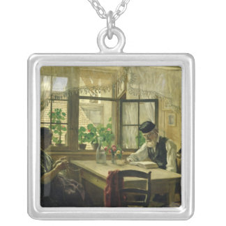 A Peaceful Sunday, 1876 Silver Plated Necklace