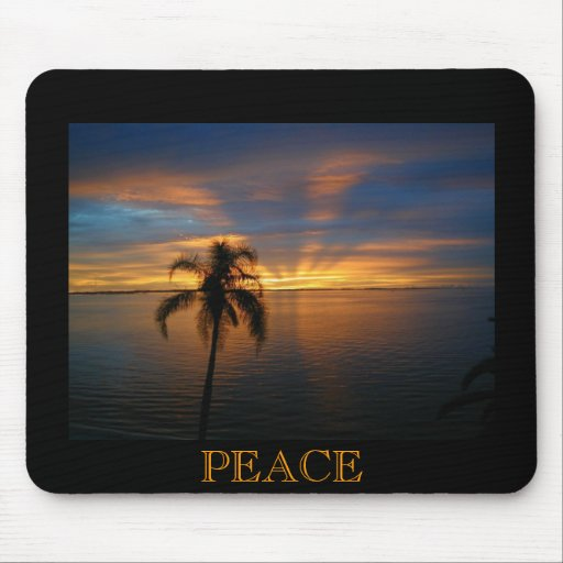 A Peaceful Sunset Mouse Pad