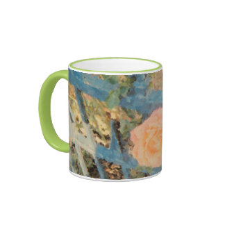 A peach rose is not just a rose on Balboa Island! Ringer Coffee Mug