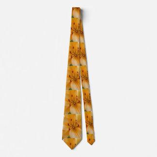A Peachy Orange Lily Neck Tie