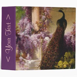 A Peacock and Doves in a Garden Vinyl Binders