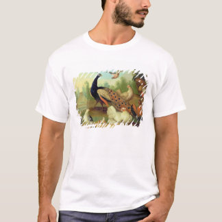 A Peacock, Doves, Chickens and a Jay in a Park T-Shirt
