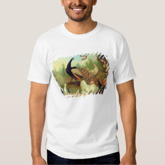 A Peacock, Doves, Chickens and a Jay in a Park Tee Shirt