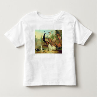 A Peacock, Doves, Chickens and a Jay in a Park Toddler T-shirt