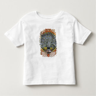 A peacock from the central panel of a mural tshirt