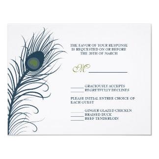 A Peacock Wedding Response Card