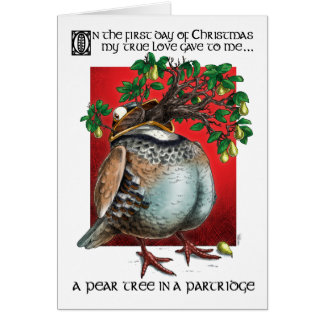 A Pear Tree in a Partridge Greeting Cards