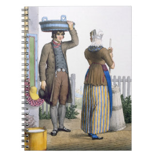 A Peasant Couple of Parmerend, North Holland, illu Notebooks