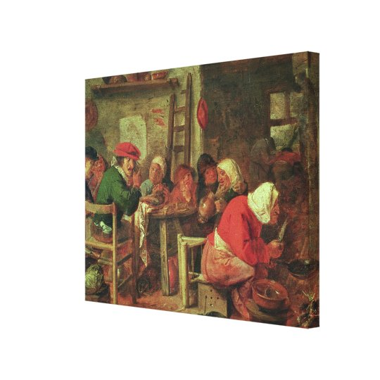 A Peasant Meal Canvas Print