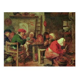 A Peasant Meal Postcard
