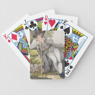 A Peasant of the Tesino Valley in Tyrol, from a co Bicycle Playing Cards