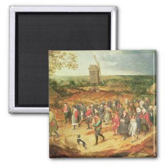 A Peasant Wedding Magnet
