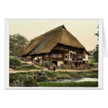 A Peasant's house, Black Forest, Baden, Germany ra Greeting Card