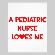 A Pediatric Nurse Loves Me Custom Letterhead