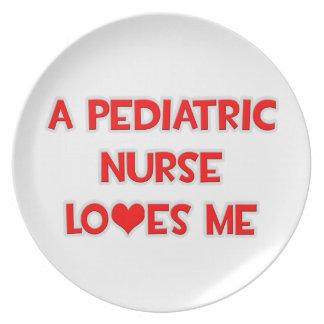 A Pediatric Nurse Loves Me Party Plates