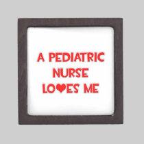 A Pediatric Nurse Loves Me Premium Jewelry Box