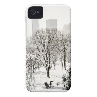 A Pedicab in Central Park During Winter iPhone 4 Case