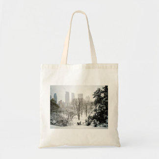 A Pedicab in Central Park During Winter Tote Bag
