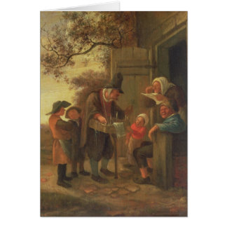 A Pedlar selling Spectacles Card