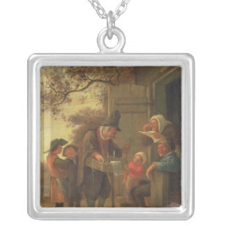 A Pedlar selling Spectacles Silver Plated Necklace