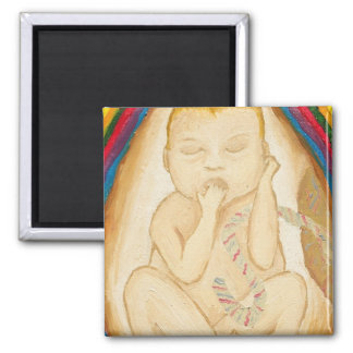 A Peek In The Womb 2 Inch Square Magnet