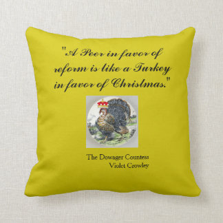 A Peer In Favor of Reform 11 x 11 Cotton Pillow