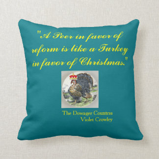 A Peer In Favor of Reform 11 x 11 in Blue Throw Pillow