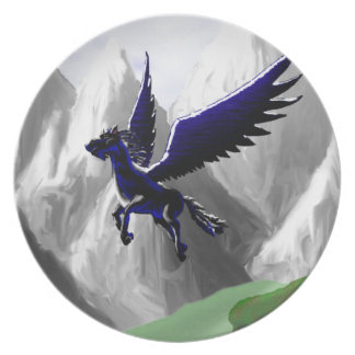 A Pegasus Flying Plate