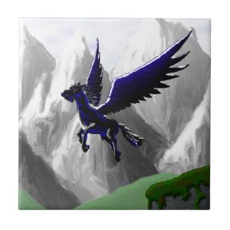 A Pegasus Flying Ceramic Tile