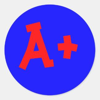 A+ pegatina
