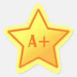 A+ Pegatina de la estrella