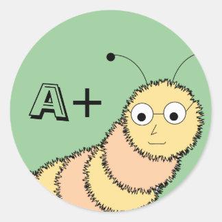 A+ Pegatina del ratón de biblioteca del estudiante
