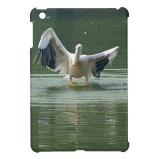 A pelican drying its wings cover for the iPad mini