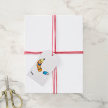 a pencil and a eraser (back to school) gift tags