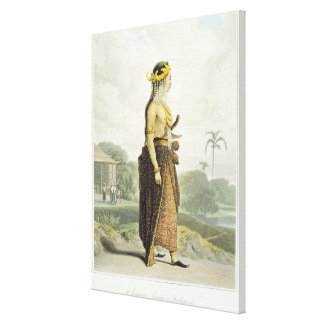 A Peng'anten Lanang or Bridegroom, plate 19 from V Canvas Print