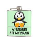 A Penguin Ate My Brain Hip Flasks