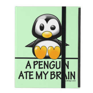 A Penguin Ate My Brain iPad Case