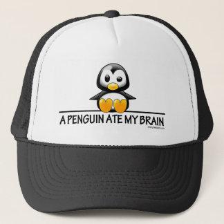 A Penguin Ate My Brain Trucker Hat