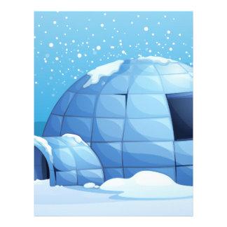 A penguin beside the igloo letterhead