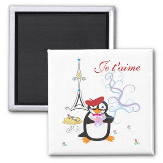 A Penguin in Paris Magnet