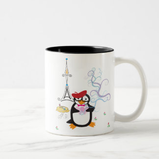 A Penguin in Paris Mug