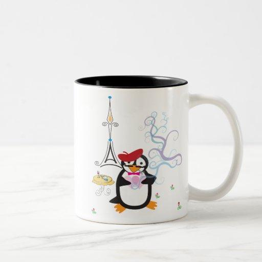 A Penguin in Paris Mug