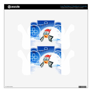 A penguin wearing Santa's hat PS3 Controller Decal