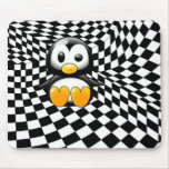 A Penguin's Checkers Nightmare Mouse Pads