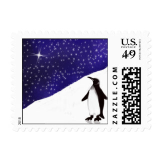 A penguin's Christmas Wish Postage