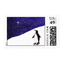 A Penguin's Christmas wish... Postage Stamps