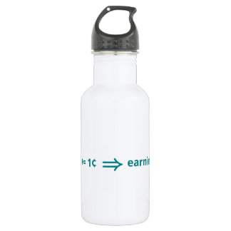 A penny saved is a penny earned stainless steel water bottle