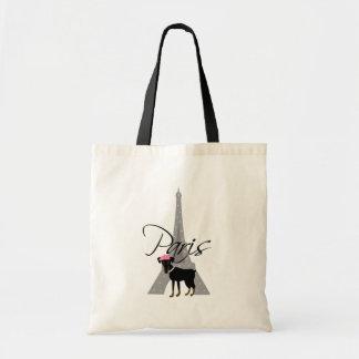 À pequeno París del Le chien Bolsa De Mano